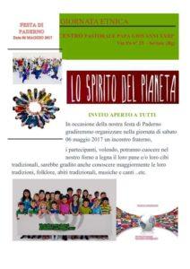 Festa di Paderno - LO SPIRITO DEL PIANETA (Giornata Etnica) @ Centro Pastorale Giovanni XXIII | Seriate | Lombardia | Italia